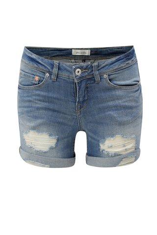 Modré džínové kraťasy s potrhaným efektem Blendshe Nova Hazen