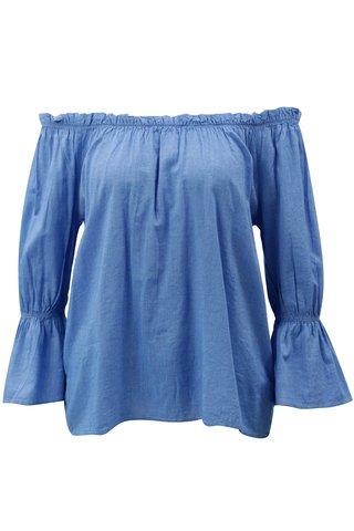 Bluza albastra cu decolteu pe umeri Blendshe Daisy