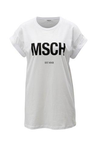Tricou alb cu print Moss Copenhagen
