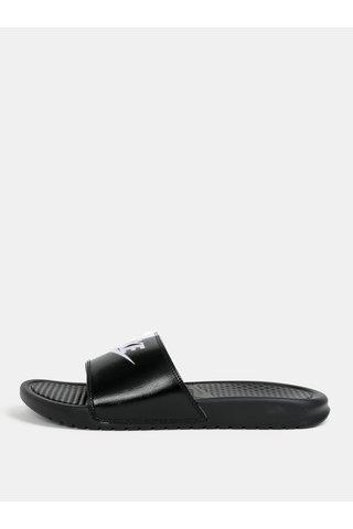 Papuci barbatesti alb-negru Nike Benassi