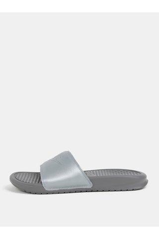 Papuci gri de dama Nike Benassi