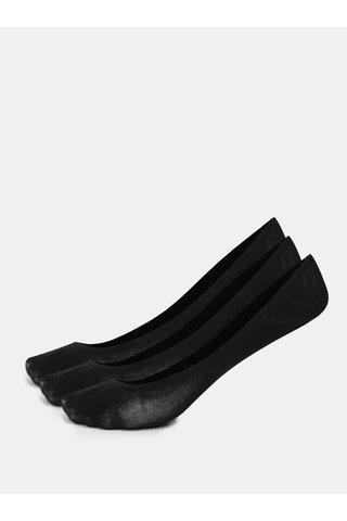 Sada tří párů bavlněných sneaker ponožek v černé barvě Bellinda