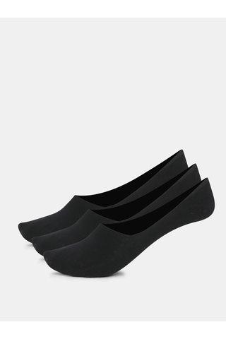Sada tří párů bavlněných sneaker ponožek v černé barvě Bellinda Invisible