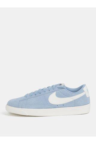 Tenisi de dama albastru deschis din piele intoarsa Nike Blazer Low