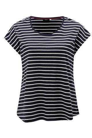 Tmavě modré pruhované tričko Zizzi Mina