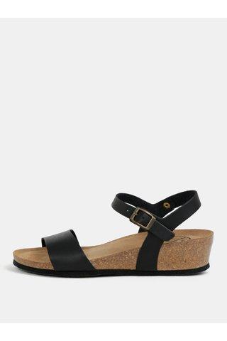 Sandale negre cu platforma wedge OJJU
