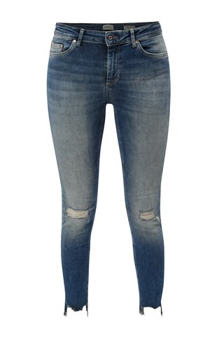 Blugi albastri skinny din denim cu aspect uzat ONLY Blush