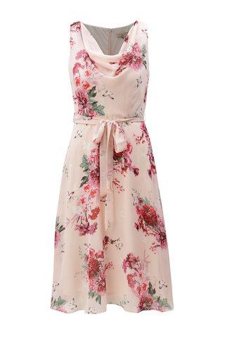 Rochie roz deschis cu model floral Billie & Blossom