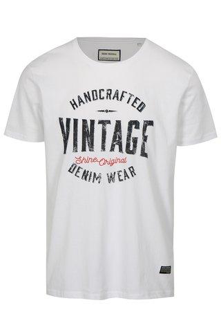 Tricou alb cu imprimeu Vintage Shine Original