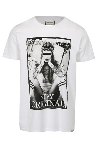Tricou alb cu imprimeu Game Shine Original