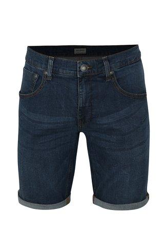 Tmavě modré džínové regular fit kraťasy Shine Original