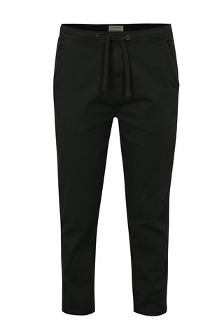 Pantaloni chino gri inchis cu talie flexibila Shine Original