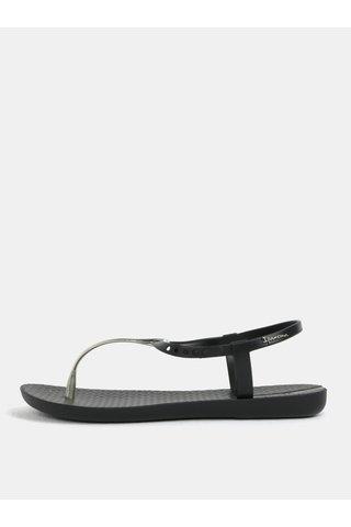 Sandale negre cu detalii aurii Ipanema Charm V