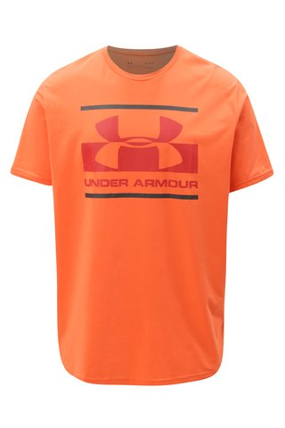 Tricou barbatesc oranj functional cu print Under Armour