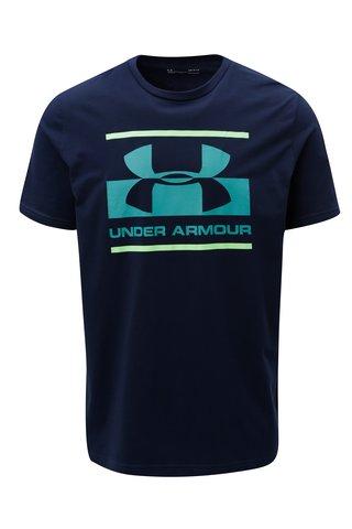 Tricou barbatesc albastru functional cu print Under Armour