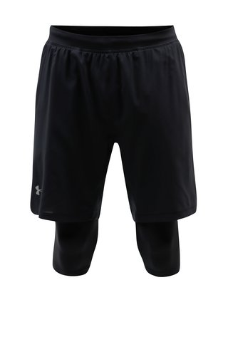 Pantaloni barbatesti scurti functionali negri Under Armour