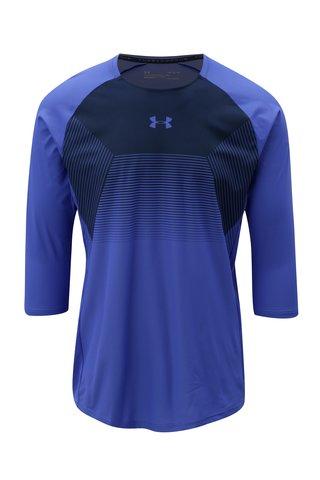 Tricou barbatesc albastru functional cu maneci 3/4 Under Armour