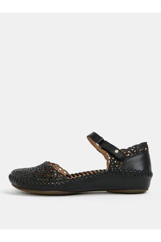 Sandale negre din piele cu perforatie Pikolinos Vallarta