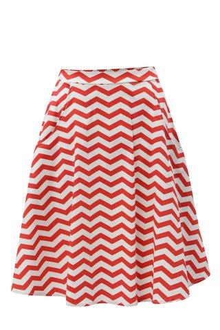 Bílo-červená vzorovaná sukně ZOOT