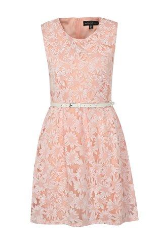 Rochie alb-roz cu curea Mela London
