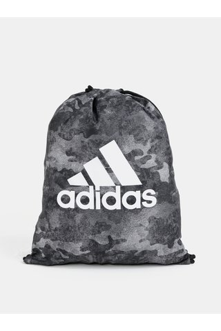 Sac gri cu model camuflaj si logo adidas Originals