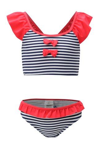 Bílo-modré holčičí pruhované dvojdílné plavky 5.10.15.