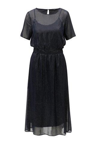 Rochie albastru inchis cu buline VERO MODA Silvia