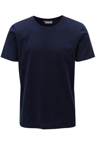 Tricou albastru inchis cu model Casual Friday by Blend