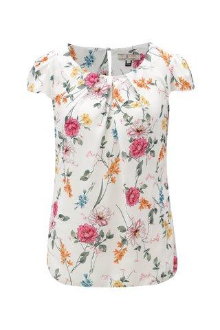 Bluza alba cu model floral Billie & Blossom