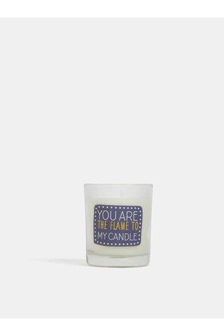 Lumanare albastru-crem parfumata cu aroma de vanilie CGB