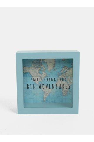 Pusculita verde mentol cu print de harta lumii Sass & Belle Vintage Map Big Adventures