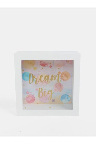 Pusculita alba cu print de bule Sass & Belle Dream Big Paint Splash