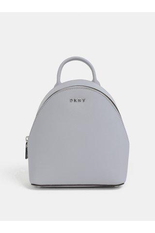 Světle šedý malý kožený elegantní batoh DKNY Bryant