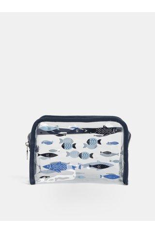 Transparentní kosmetická taška s potiskem ryb CGB