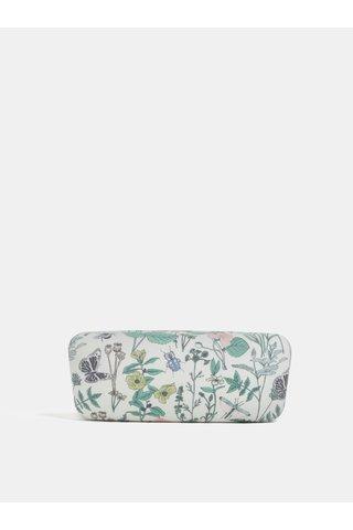 Etui pentru ochelari alb cu model floral CGB Thistle & Thorn