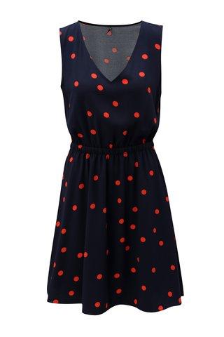 Rochie rosu-albastru cu spate suprapus ONLY Michelle