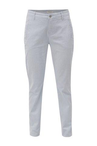 Pantaloni alb-albastru chino cu model in dungi Selected Femme Falma