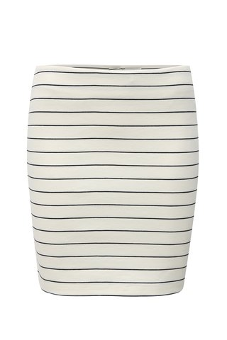Bílá pruhovaná sukně VILA Tinny