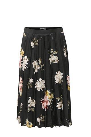 Černá květovaná plisovaná midi sukně Haily´s Vio
