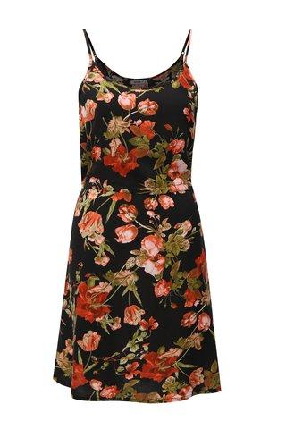 Rochie neagra cu model floral Haily´s Tabea