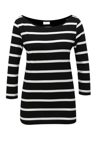 Bílo-černé pruhované tričko VILA Striped