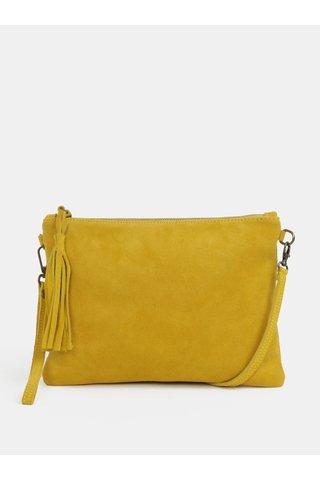 Žlutá crossbody semišová kabelka odepínacím popruhem ZOOT