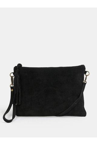 Černá crossbody semišová kabelka s odepínacím popruhem ZOOT