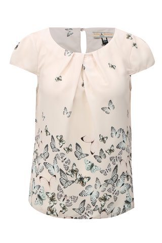 Bluza roz cu print de fluturi Billie & Blossom Petite