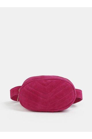 Borseta roz inchis din piele intoarsa ZOOT