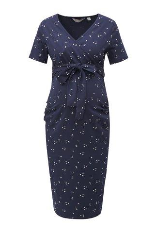 Rochie albastru inchis cu model si cordon pentru femei insarcinate Dorothy Perkins Maternity