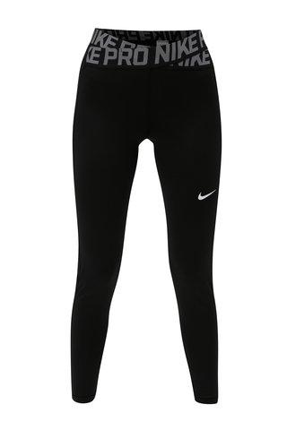 Leggings de dama functionali negri cu banda elastica cu logo in talie Nike Crossover