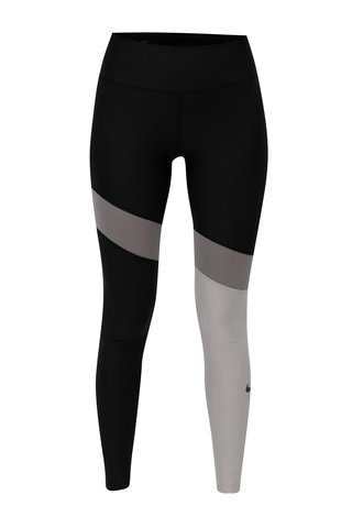 Leggings de dama functionali gri-negru Nike Poly