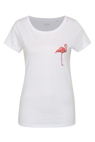 Tricou de dama alb ZOOT Original Flamingo