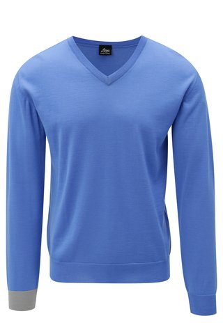 Modrý svetr z merino vlny Live Sweaters